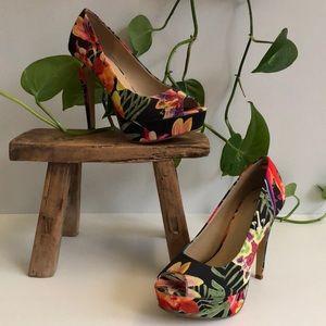 NWOT Novo Tropical Pumps Open Toe Heels Stilettos